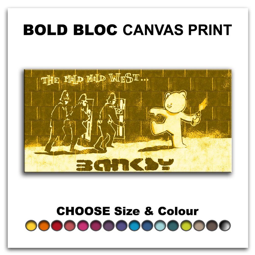 Mild West BANKSY HD Prints Canvas Art Print Box Framed Picture Wall ...