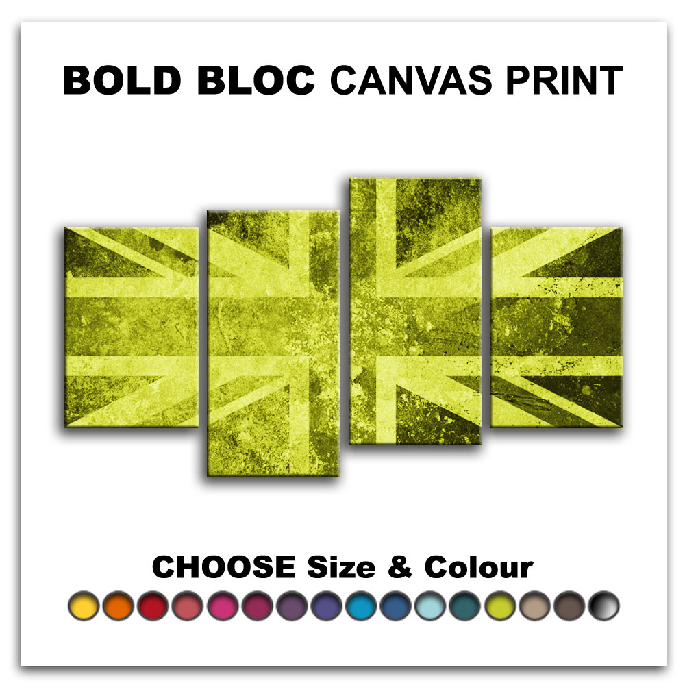 Union Jack Abstract FLAGS Canvas Art Print Box Framed Picture Wall ...