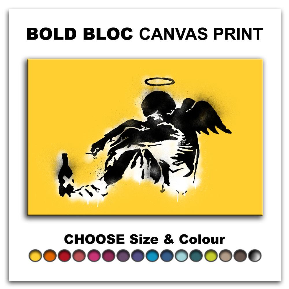 Fallen Angel BANKSY HD Canvas Art Print Box Framed Picture Wall ...