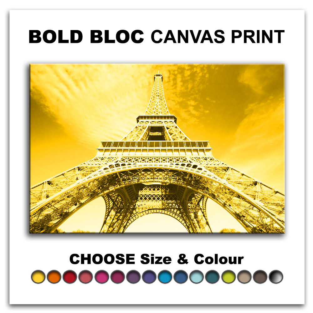 Paris Eiffel Tower CITY Canvas Art Print Box Framed Picture Wall ...