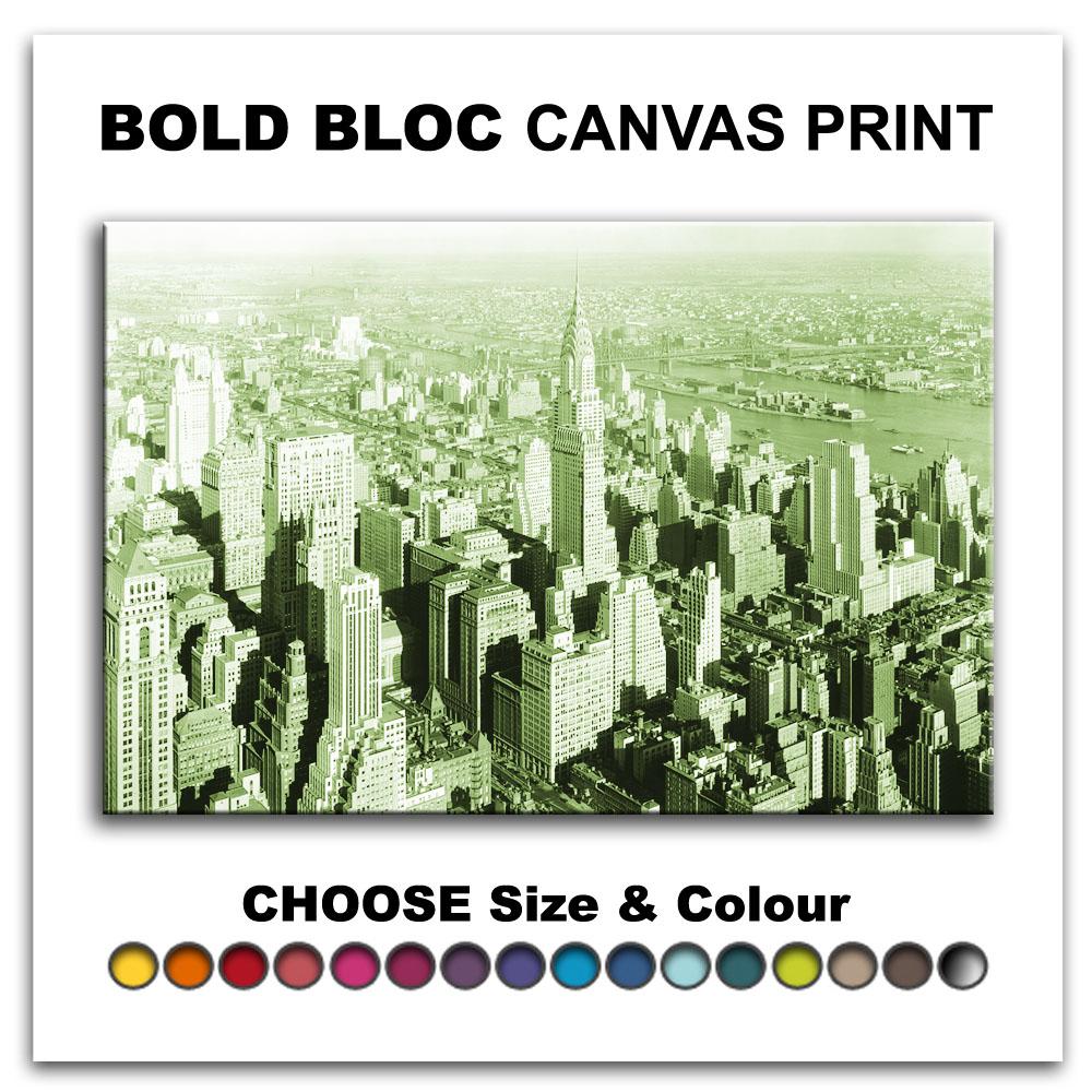 NYC New York Skyline CITY Canvas Art Print Box Framed