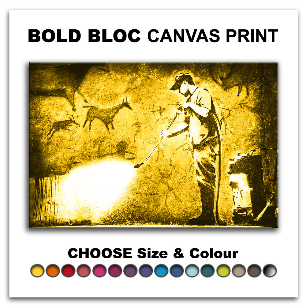 Cave Painting BANKSY Canvas Art Print Box Framed Picture Wall ...