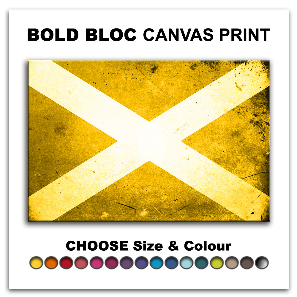 Abstract Scottish FLAGS Canvas Art Print Box Framed Picture Wall ...