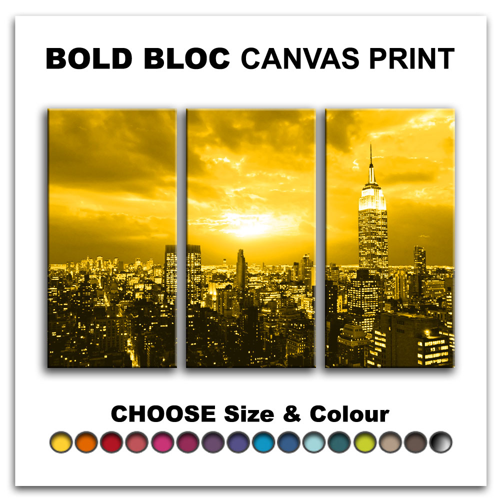 New York NYC Skyline CITY Canvas Art Print Box Framed Picture Wall ...