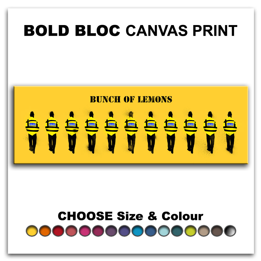 Bunch Of Lemons BANKSY HD Canvas Art Print Box Framed Picture Wall ...
