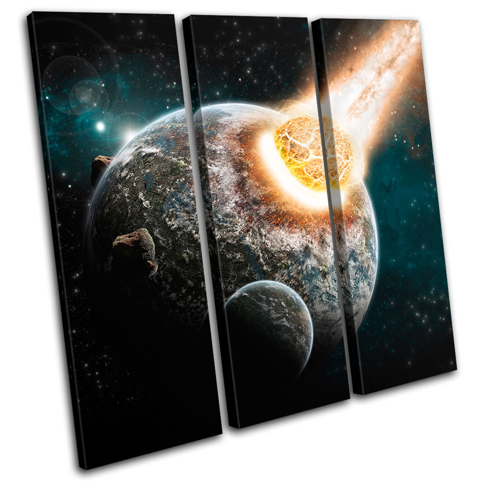 Universe apocolypse stars space treble canvas wall art for House outer painting model