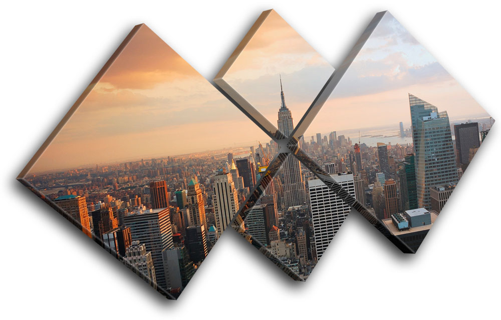 New York City Canvas Wall Art new york skyline usa city multi canvas wall art picture print va