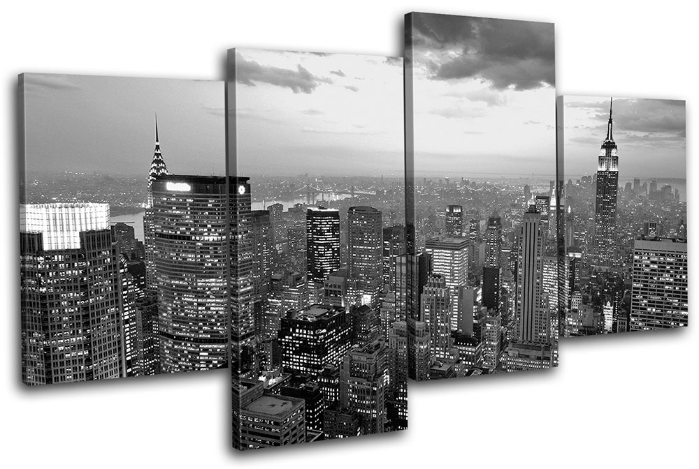 New York City Wall Art new york nyc skyline city multi canvas wall art picture print va