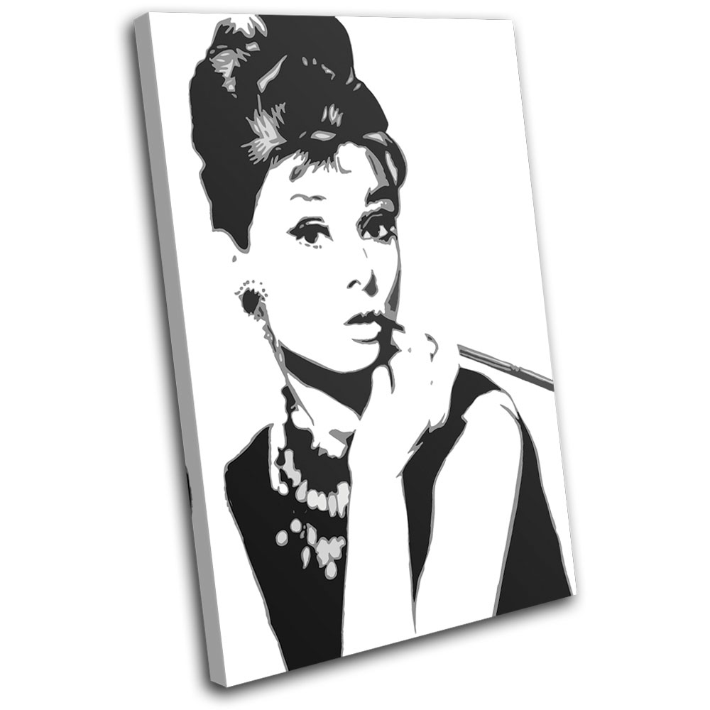 audrey hepburn iconic celebrities single leinwand wand. Black Bedroom Furniture Sets. Home Design Ideas