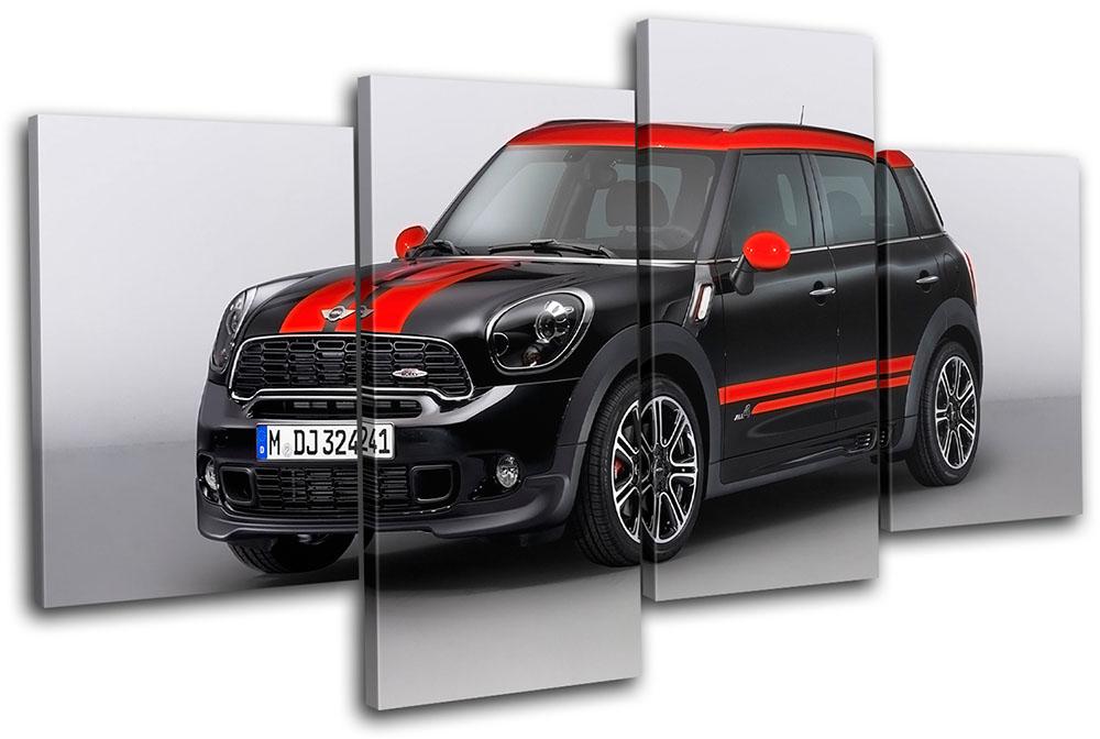 Mini John Cooper Works Cars MULTI CANVAS WALL ART Picture