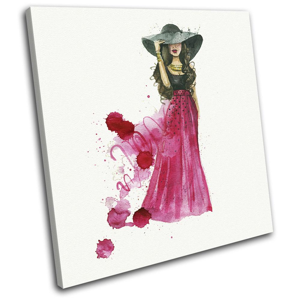 Watercolour Fashion Illustration SINGLE LONA pa rojo  impresion arte Foto impresion  ced62f