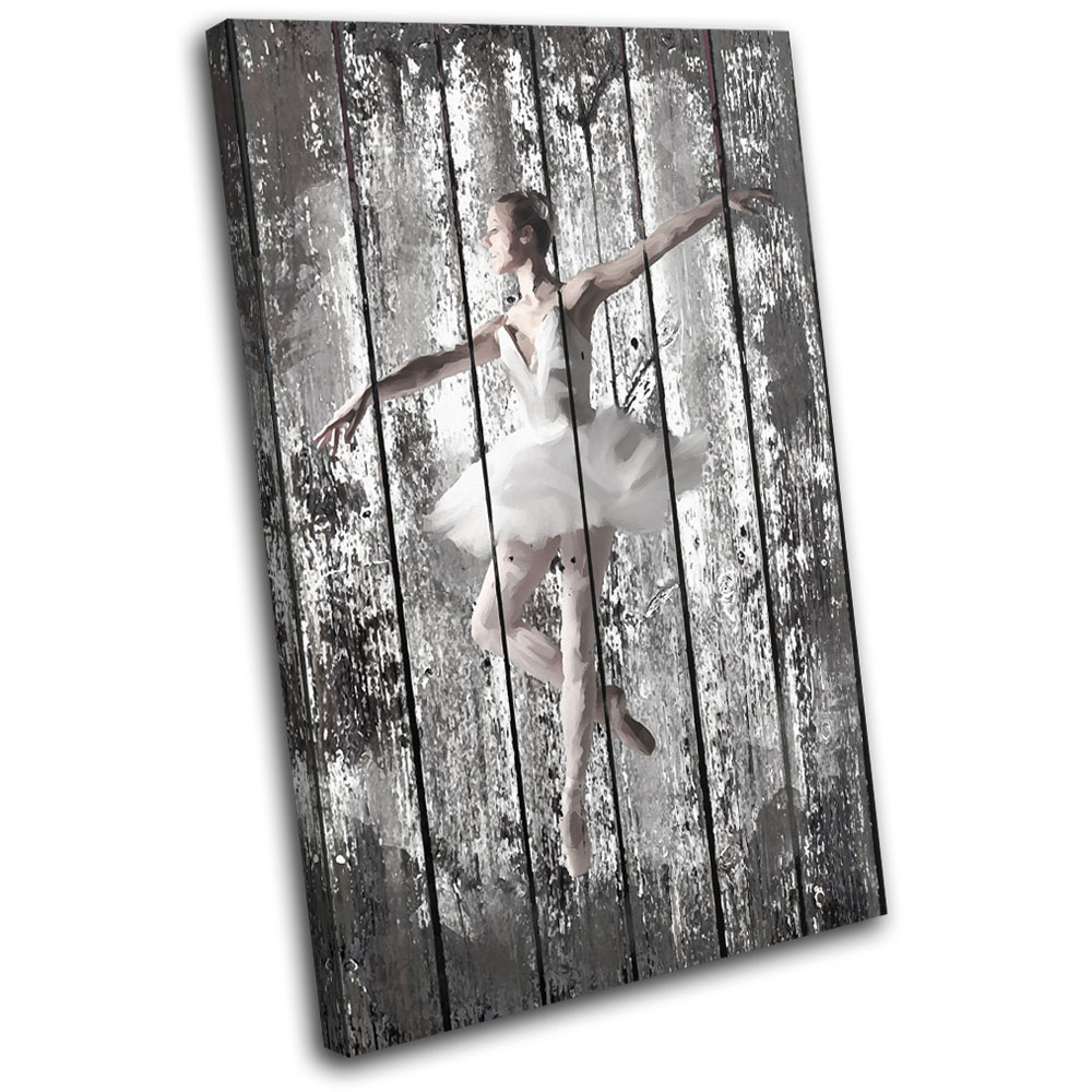 Wall Art Canvas Shabby Chic : Shabby chic ballerina performing single canvas wall art
